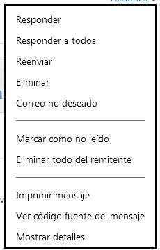 imprimir correo otulook